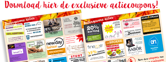 Download hier de exclusieve actiecoupons