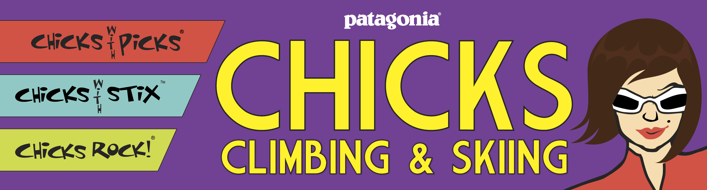 Chicks Climbing and Skiing Logo