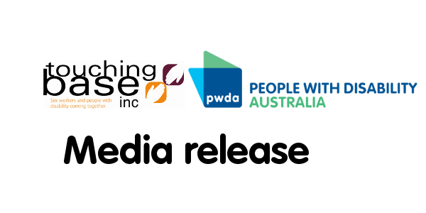 Logos of Touching Base and People with Disability Australia, with Media Release written underneath
