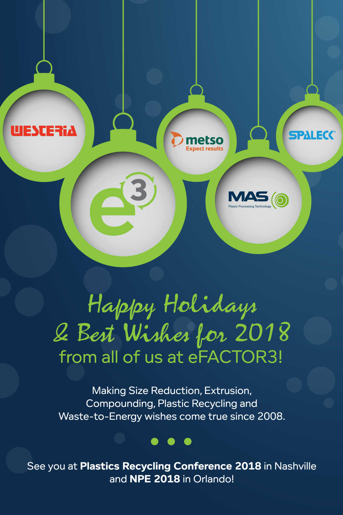 Happy Holidays & Best Wishes for 2018 from all of us at eFACTOR!