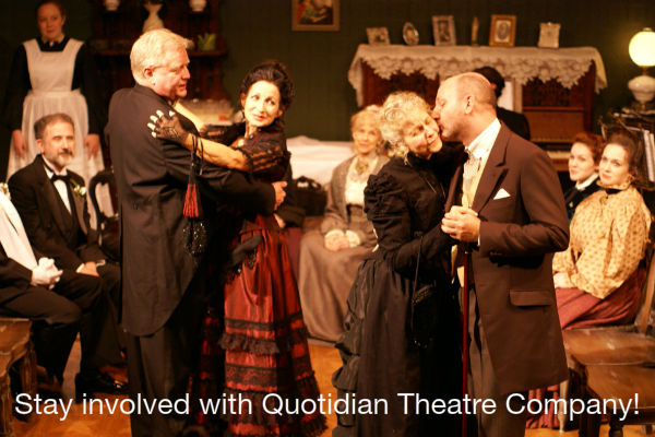 Stay involved with Quotidian Theatre Company!