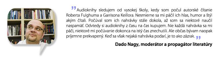 Dado Nagy o audioknihách