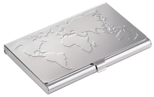 Troika World Map Business Card Case