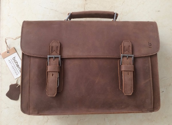 Boheme Hombre Messenger Leather Satchel