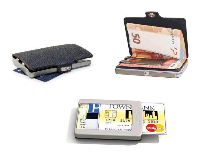 I-Clip Black Wallet
