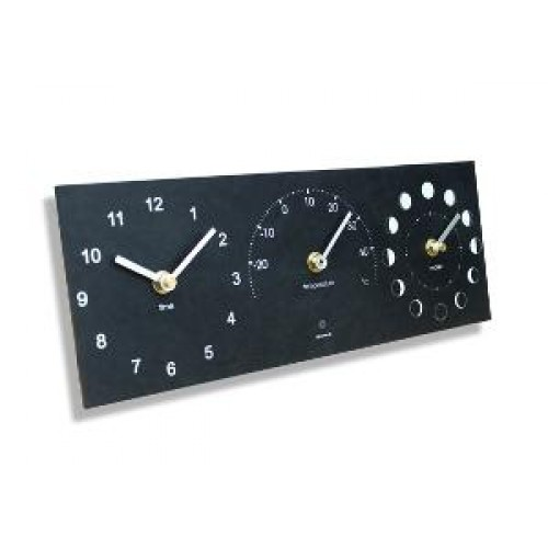Ashortwalk Moon Thermometer Time Clock