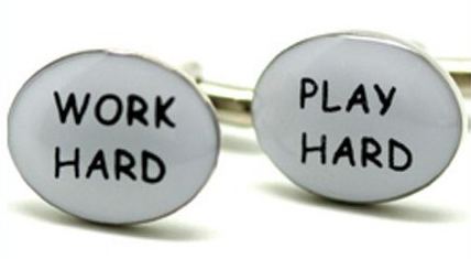 Work Hard Play Hard Cufflinks