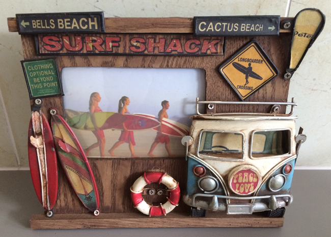 Surf Shack Photo Frame