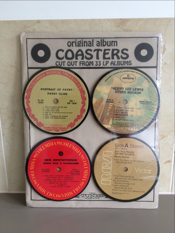 Vintage Record Coaster set of 4