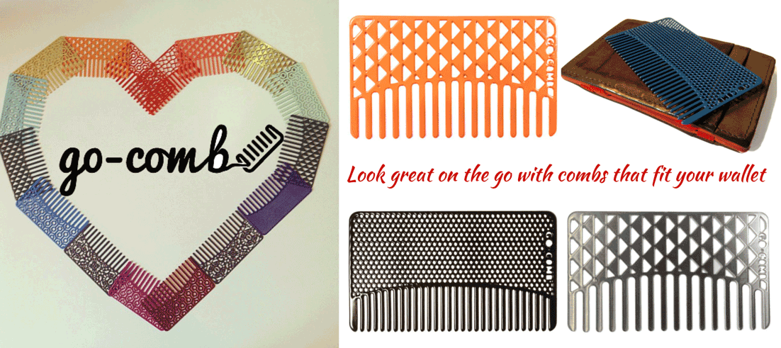 go-comb look great on the go with combs that fit in your wallet