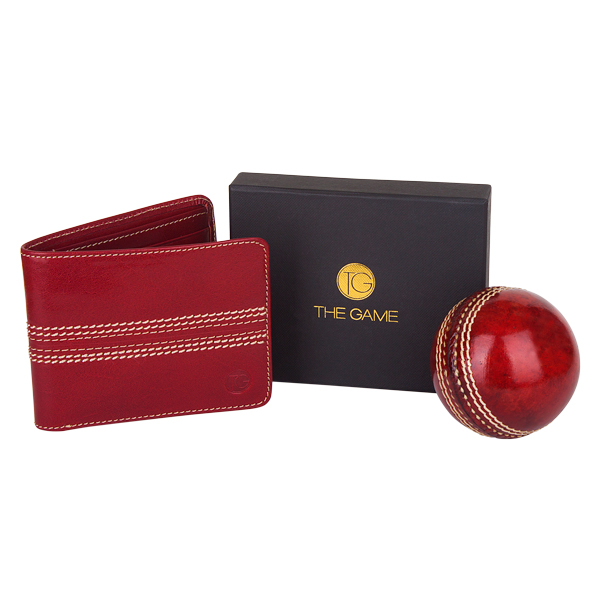 The Game Leather Cricket Wallet