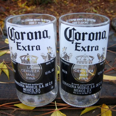 Corona glasses, pair