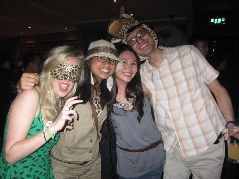 Ania, Ivah, Kuku & Peter the Giraffe