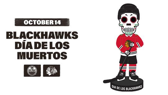 Blackhawks Día de los Muertos