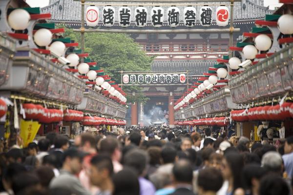 Crowds at Asakusa, Sensoji Temple