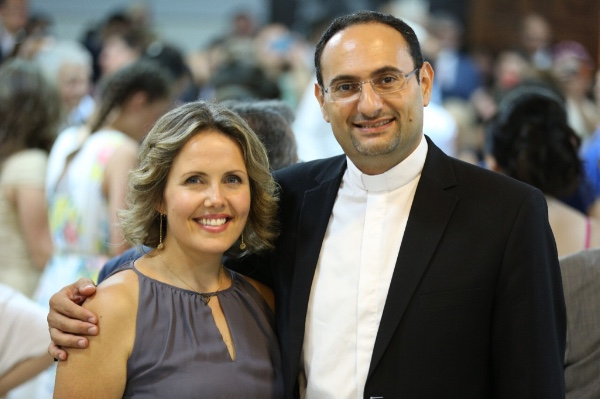 Hikmat Kashouh and his wife, Krista