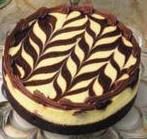 Marble truffle cheesecake