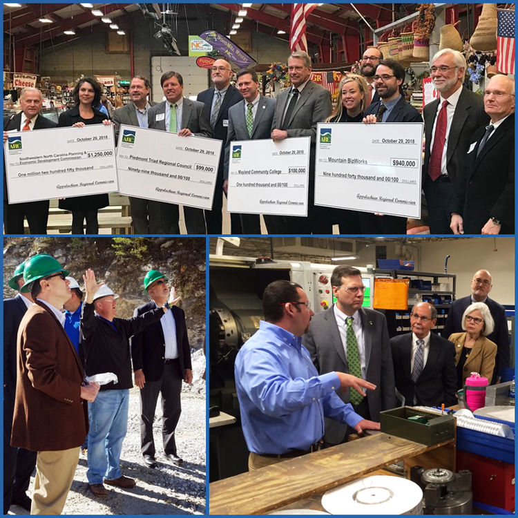 Images of Federal Co-Chair Tim Thomas visiting sites in North Carolina
