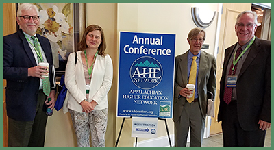 Dennis Bega (left) and Michael Chamberlain (right) of the U.S. Department of Education join ARC Federal Co-Chair Earl Gohl and ARC Program Manager Emela Halilovic at the AHEN Summit.