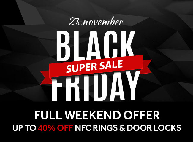 Black Friday Super Sale. Up to 40% Off NFC Rings & Digital Door Locks.