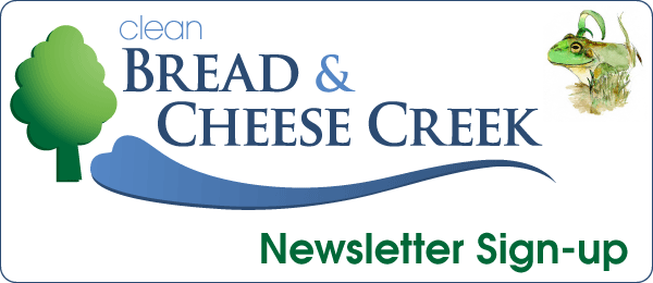Clean Bread and Cheese Creek Newsletter Sign- up