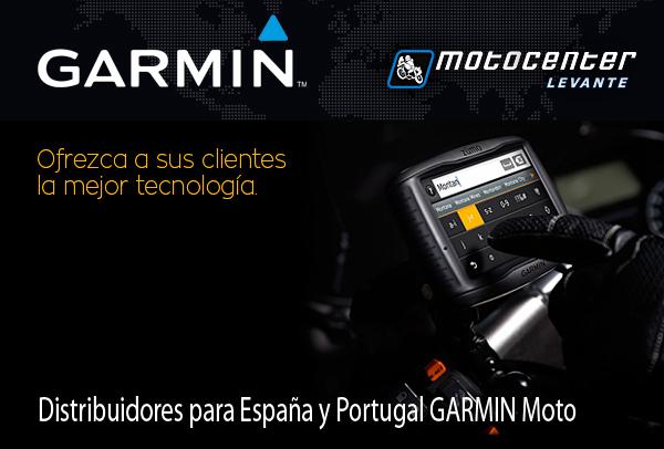MotoCenter Levante NUEVO DISTRIBUIDOR GARMIN MOTO para España y Portugal