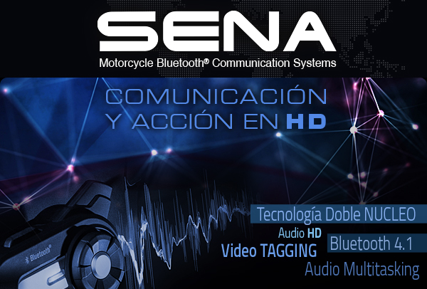 Distribución intercomunicadores moto - SENA BLUETOOTH® ESPAÑA