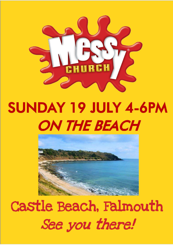 Messy Church on the Beach poster