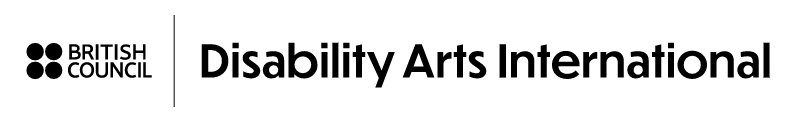 Disability Arts International header with British Council logo