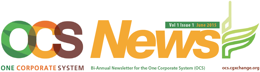 Biannual newsletter for the One corporate system (OCS)