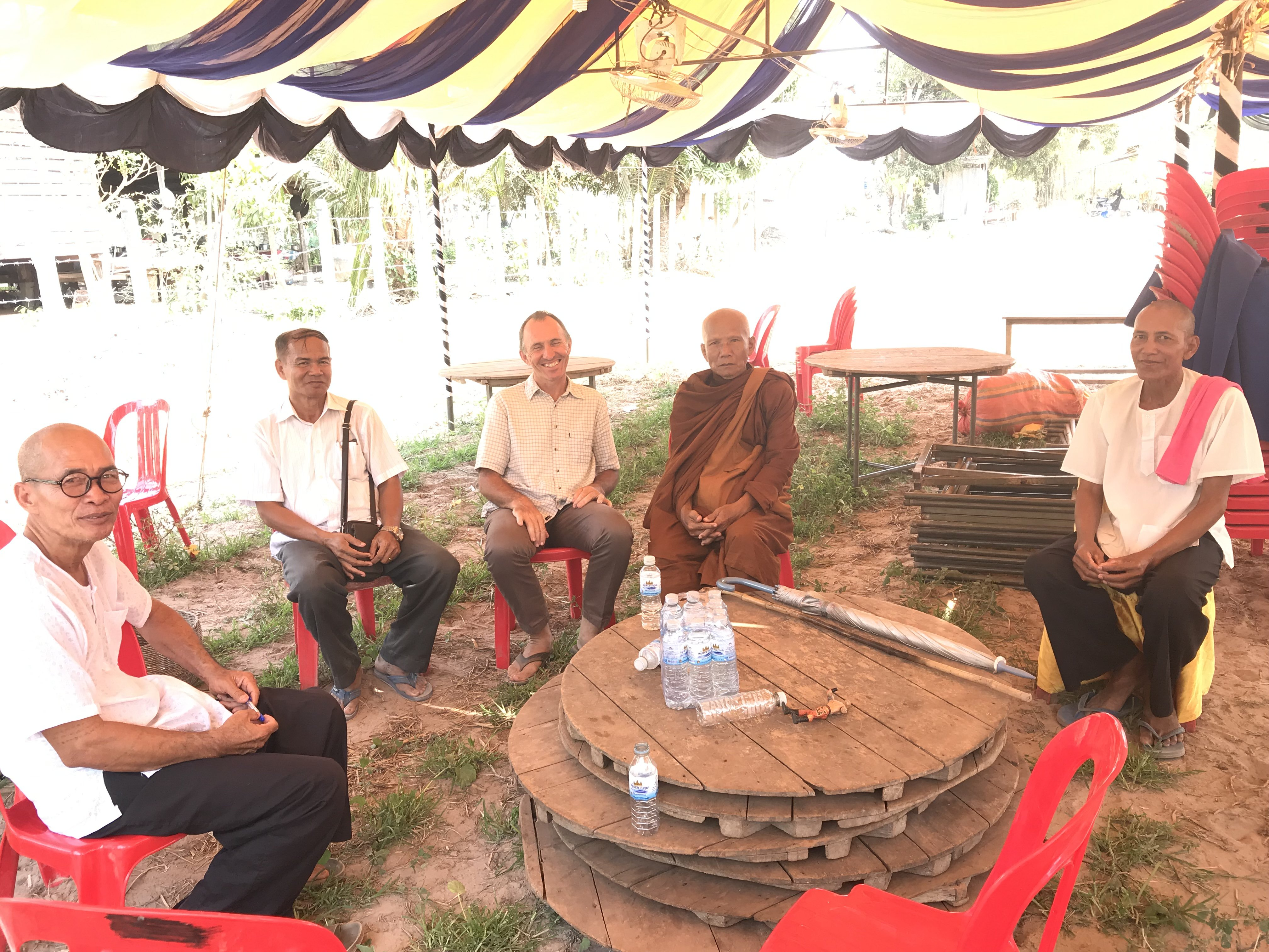 Sharing with village Monk and grandfather elders Dtar Jah's