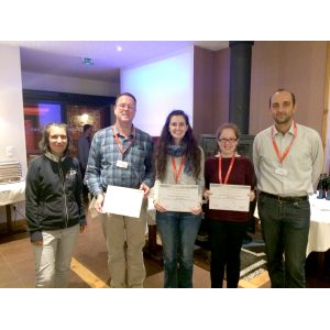 James Anderson, Catherine Nemitz and Tanya Amert receive the Best Student Paper Award at RTNS 2017