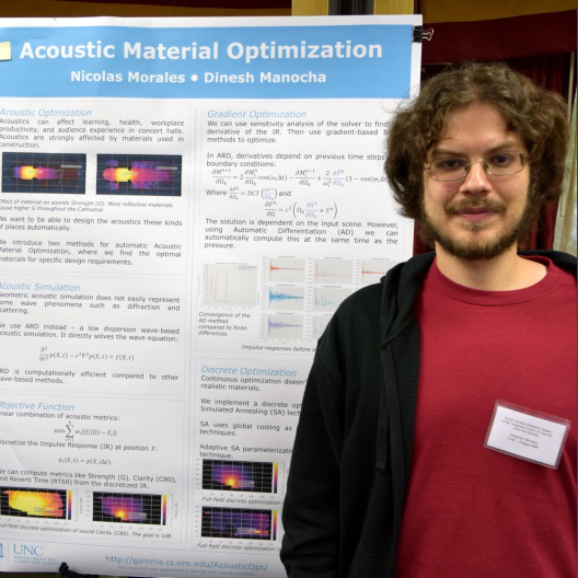 Nic Morales at the Royster Competition poster session