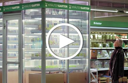 Kräutergarten im Supermarkt