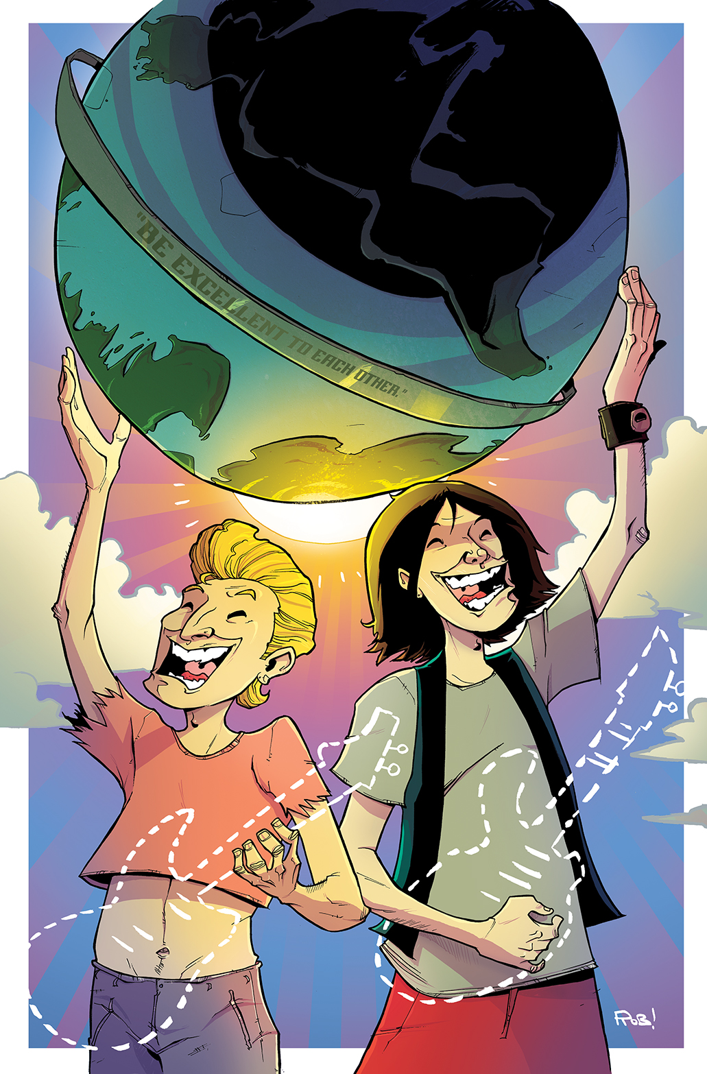 Bill & Ted's Most Triumphant Return #1 10K Variant Cover by Rob Guillory