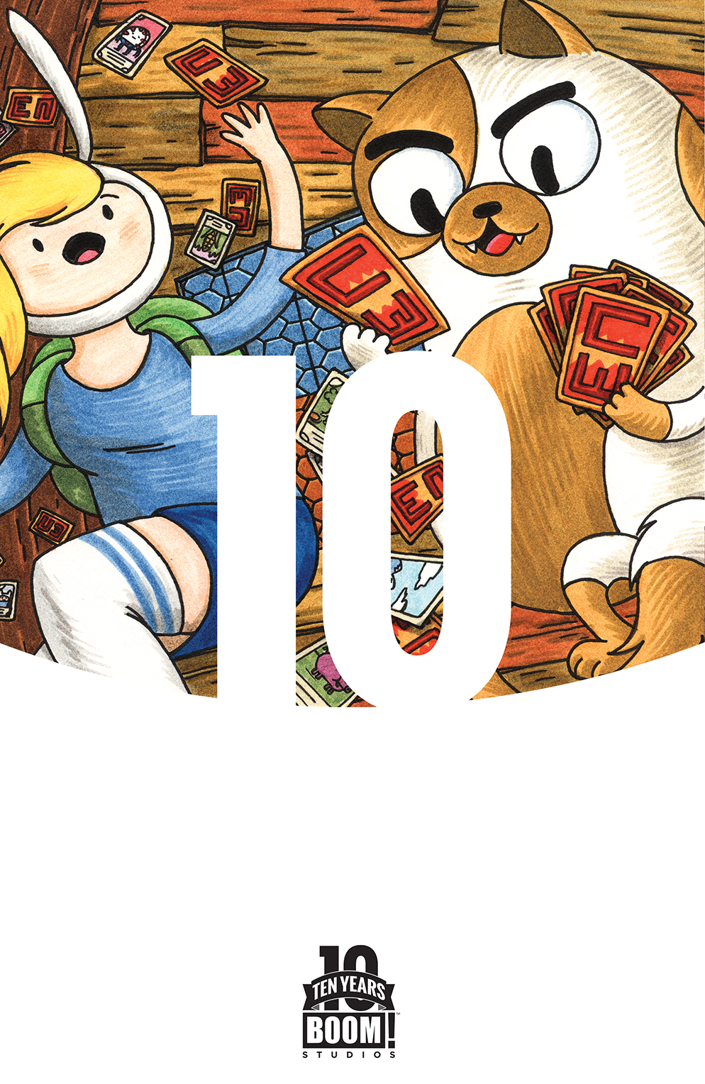 Adventure Time with Fionna & Cake: Card Wars #1 10 Years Cover