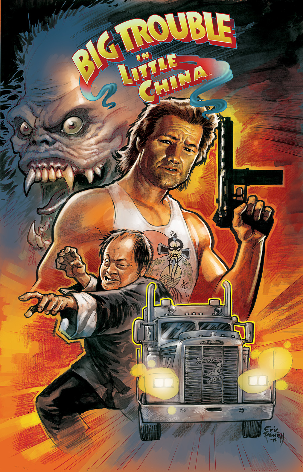 BIG TROUBLE IN LITTLE CHINA #1 Cover A by Eric Powell