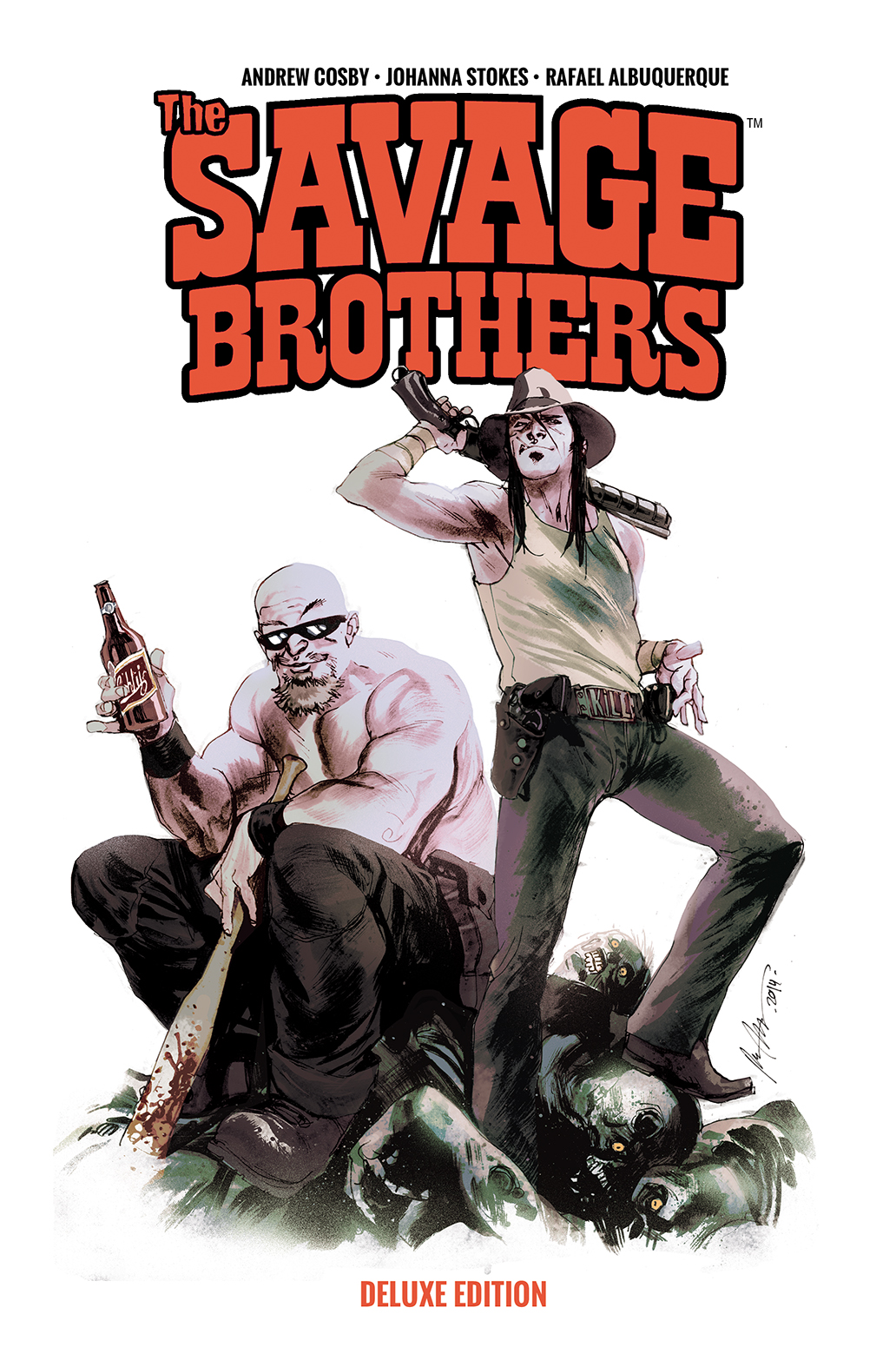THE SAVAGE BROTHERS DELUXE EDITION TP Cover by Rafael Albuquerque title=