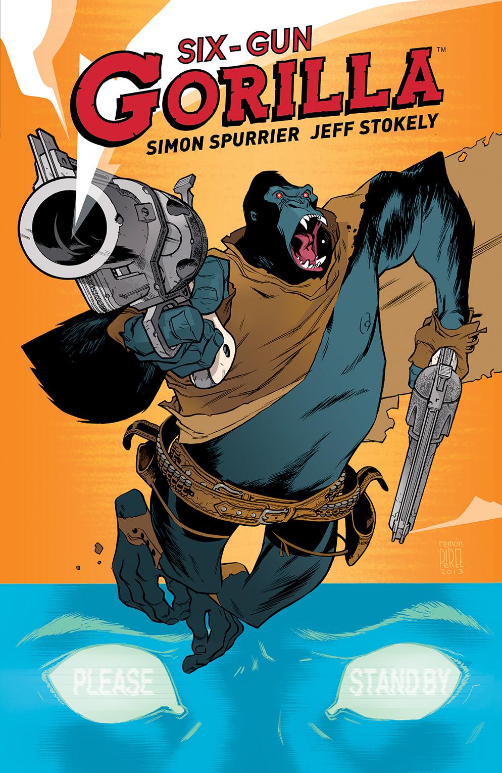 SIX-GUN GORILLA TP Cover by Ramón Pérez