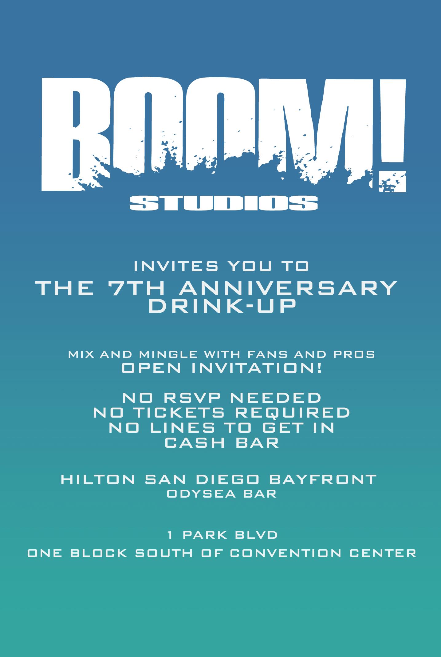 SDCC DRINKUP BACK 2012 SDCC12: Boom! Studios: Booth #2743