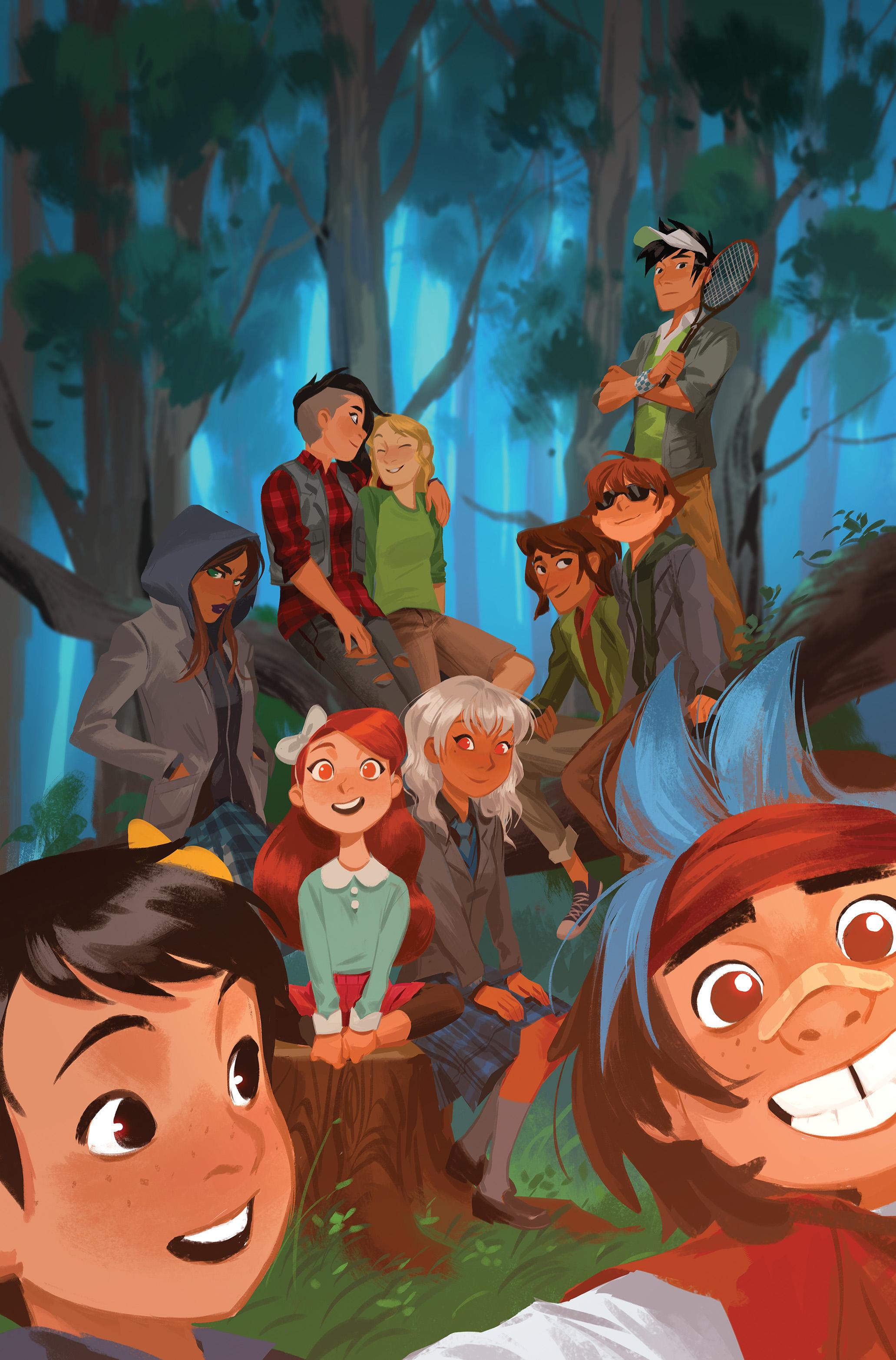 Lumberjanes Gotham Academy #1 Main Cover by Mingjue Chen