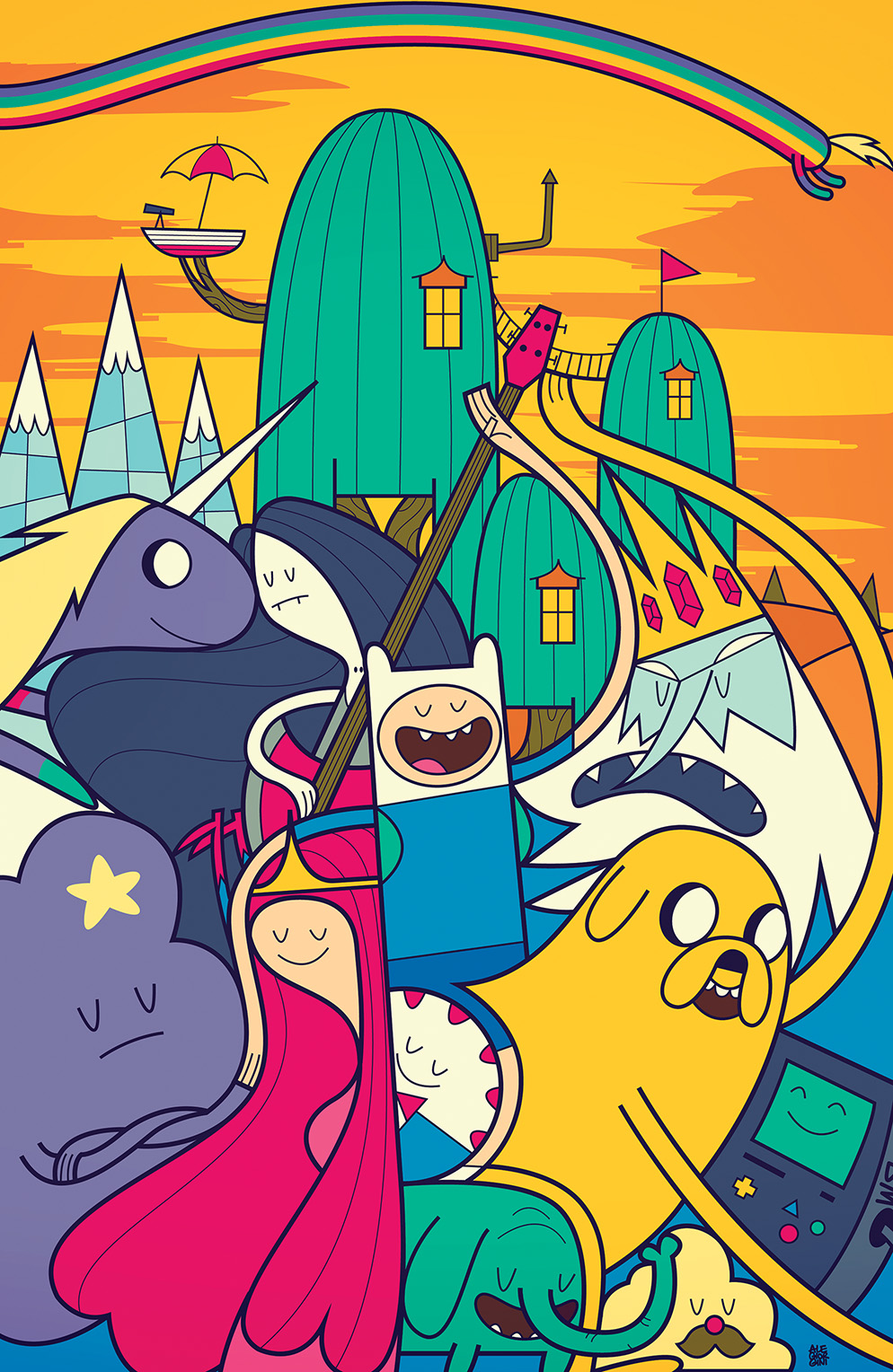 Adventure Time #36 Cover B by Ale Giorini