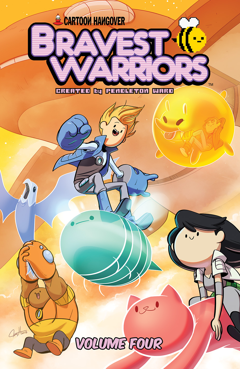 Bravest Warriors Vol. 4 TP Cover by Tyson Hesse