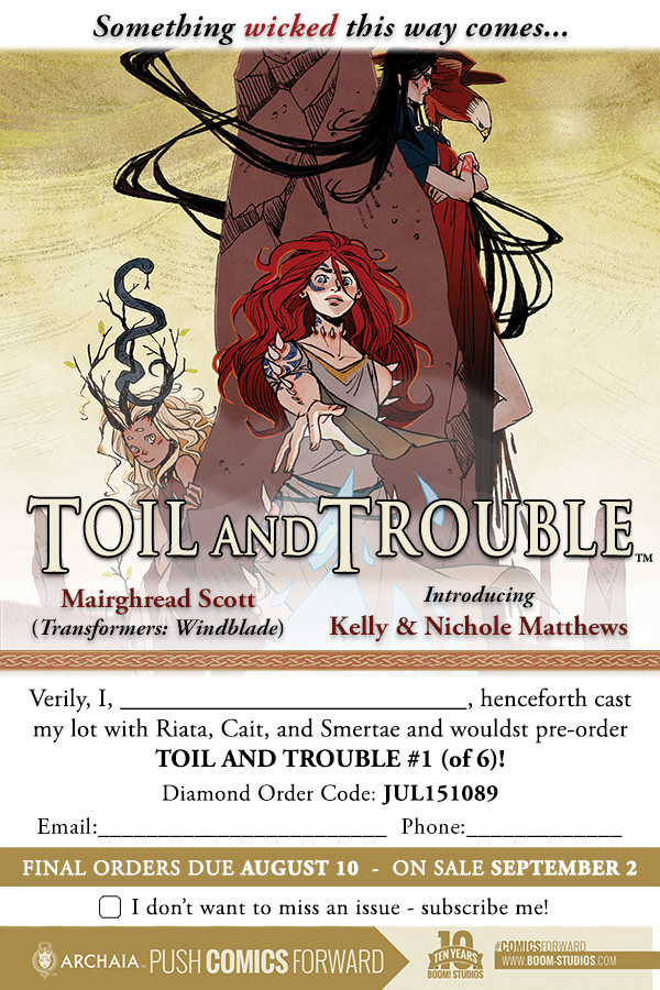 Toil and Trouble Order Form
