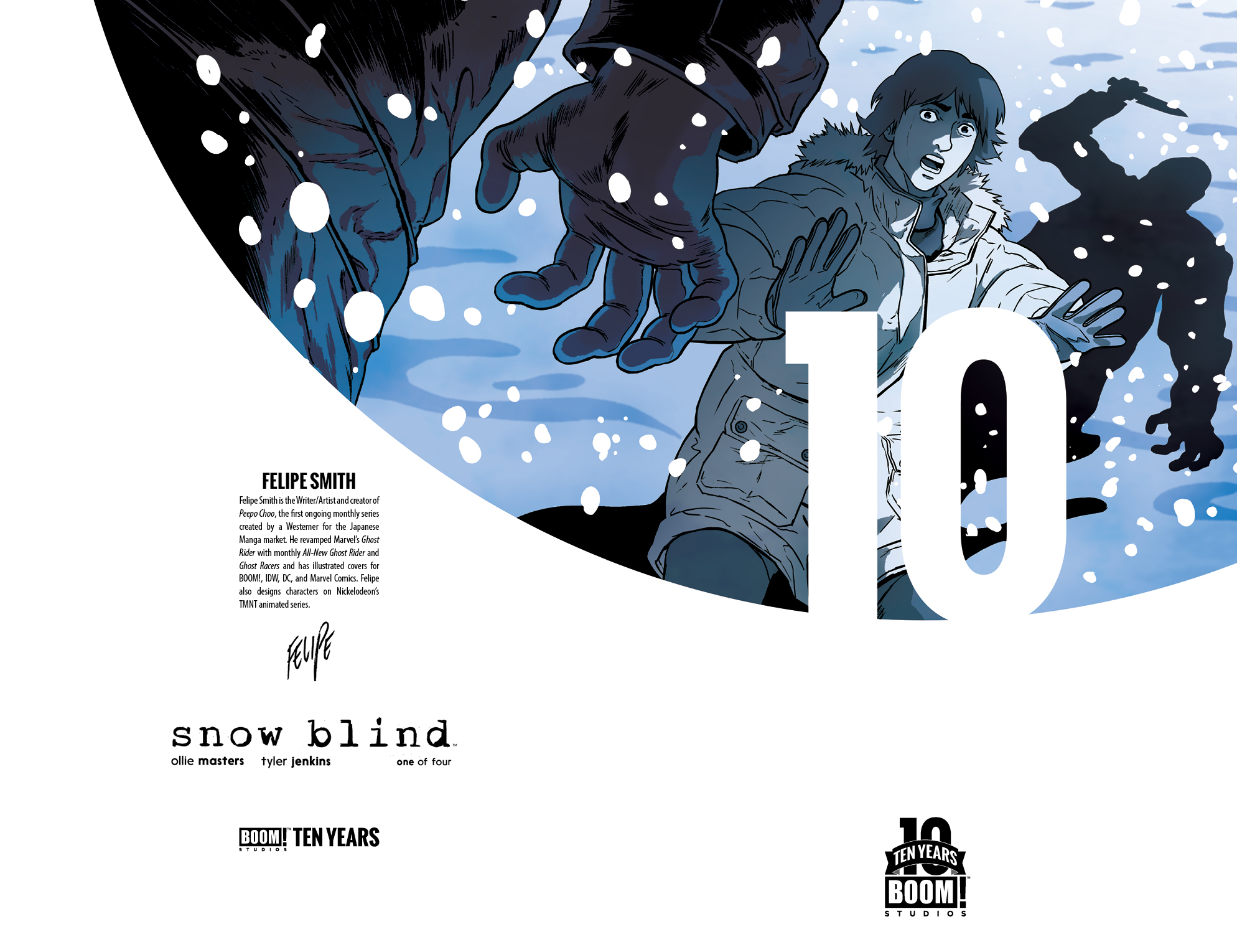 Snow Blind #1 10 Year Cover by Felipe Smith