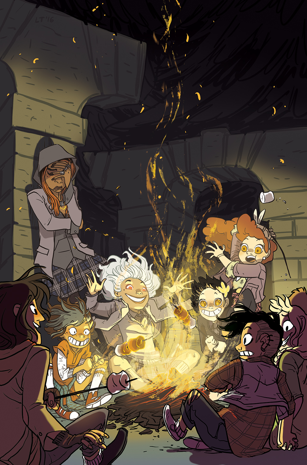 LUMBERJANES/GOTHAM ACADEMY SDCC Exclusive Cover by Lissa Treiman