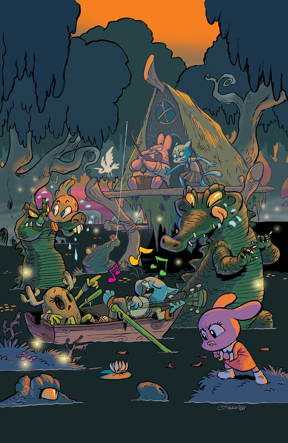 The Amazing World of Gumball #8 Cover B by Zachary Giallongo