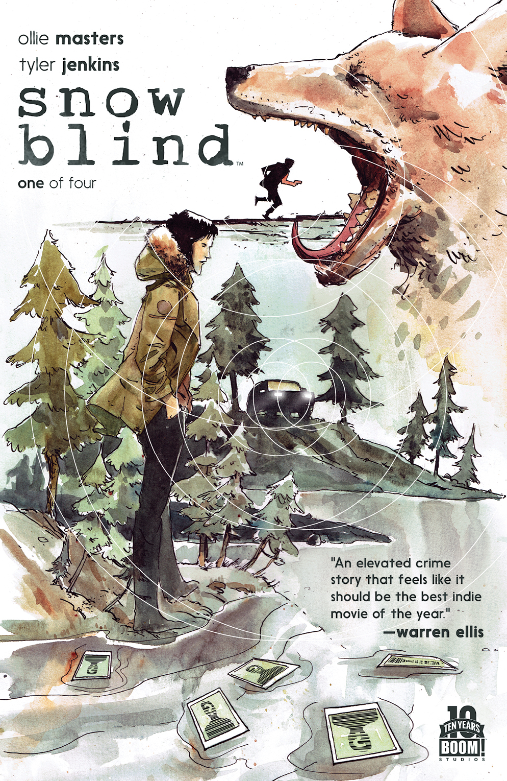 Snow Blind #1 Cover by Tyler Jenkins