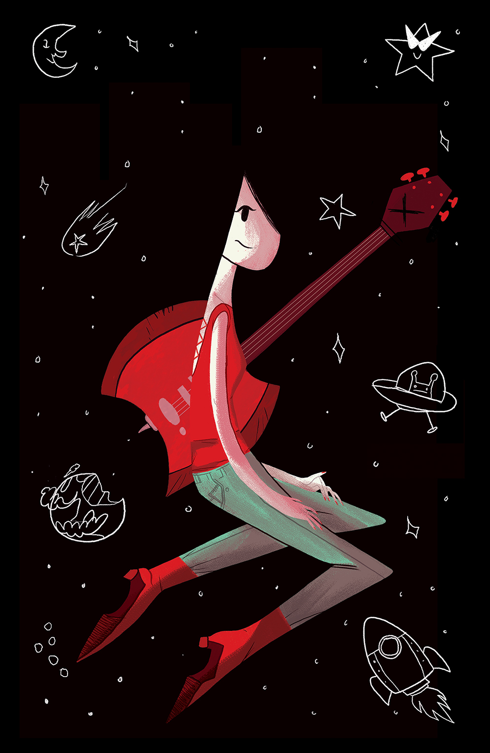 Adventure Time: Marceline Gone Adrift Cover A by Reimena Yee