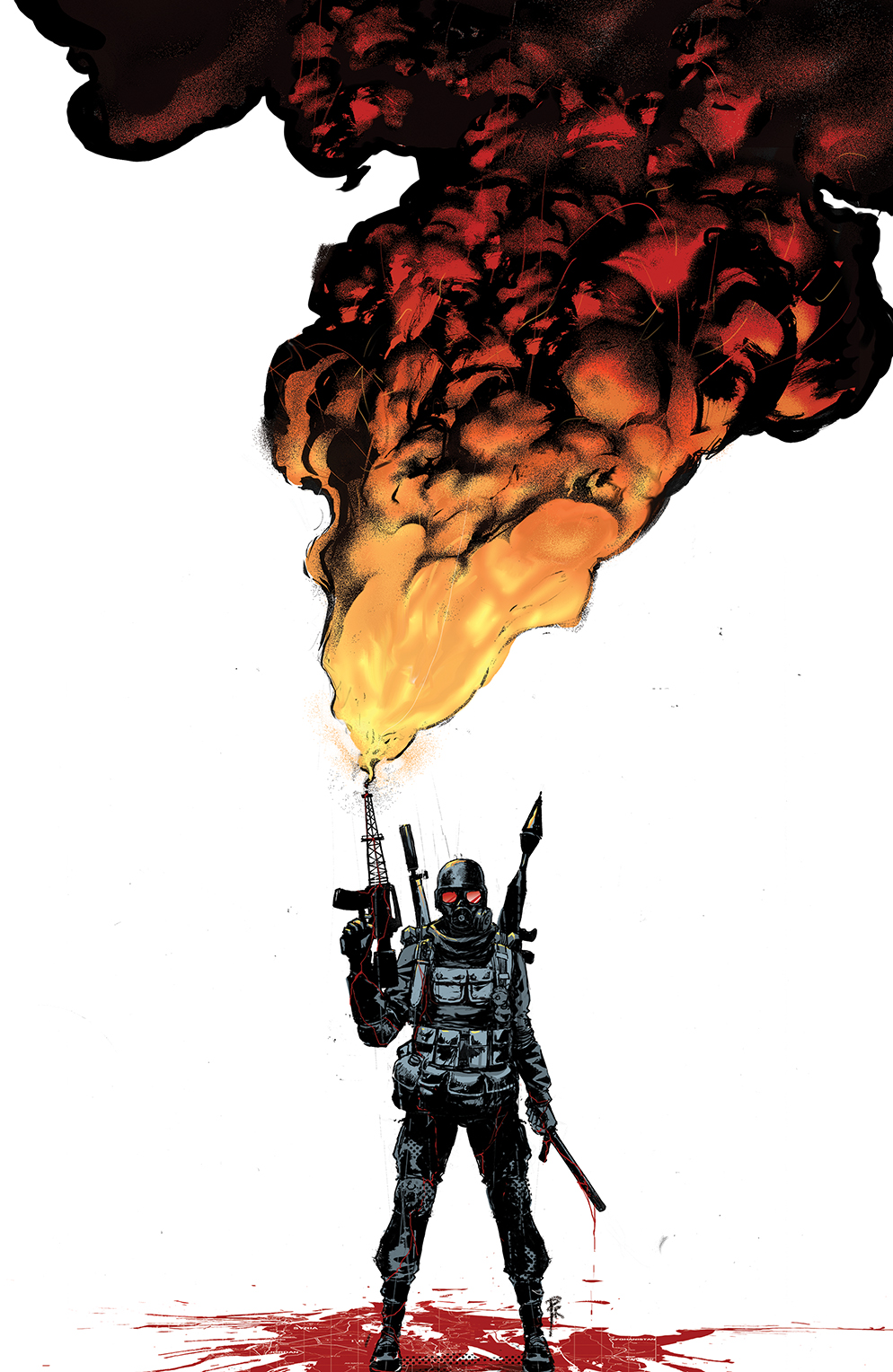 BURNING FIELDS #1 Cover C by Riley Rossmo
